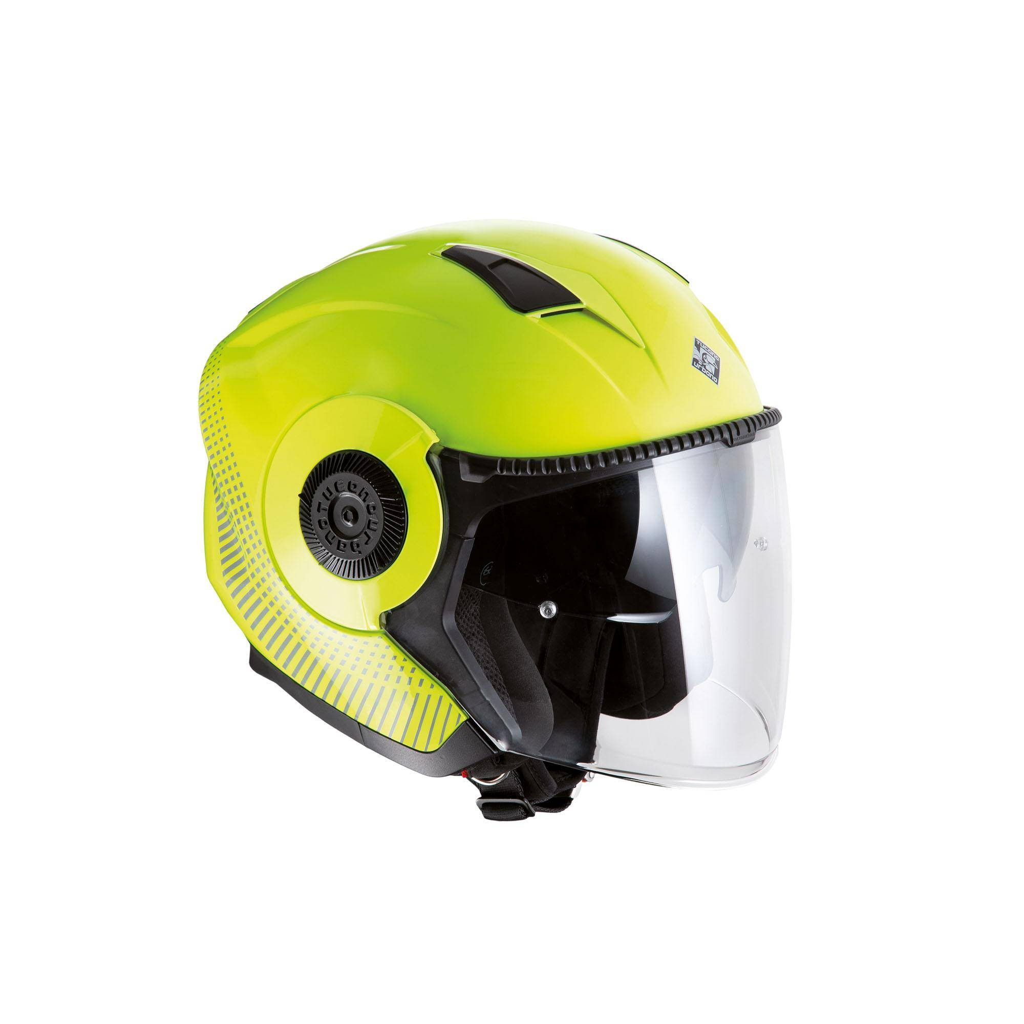Jet Helmet El'tange Yellow Fluo / Graphic A – Glossy
