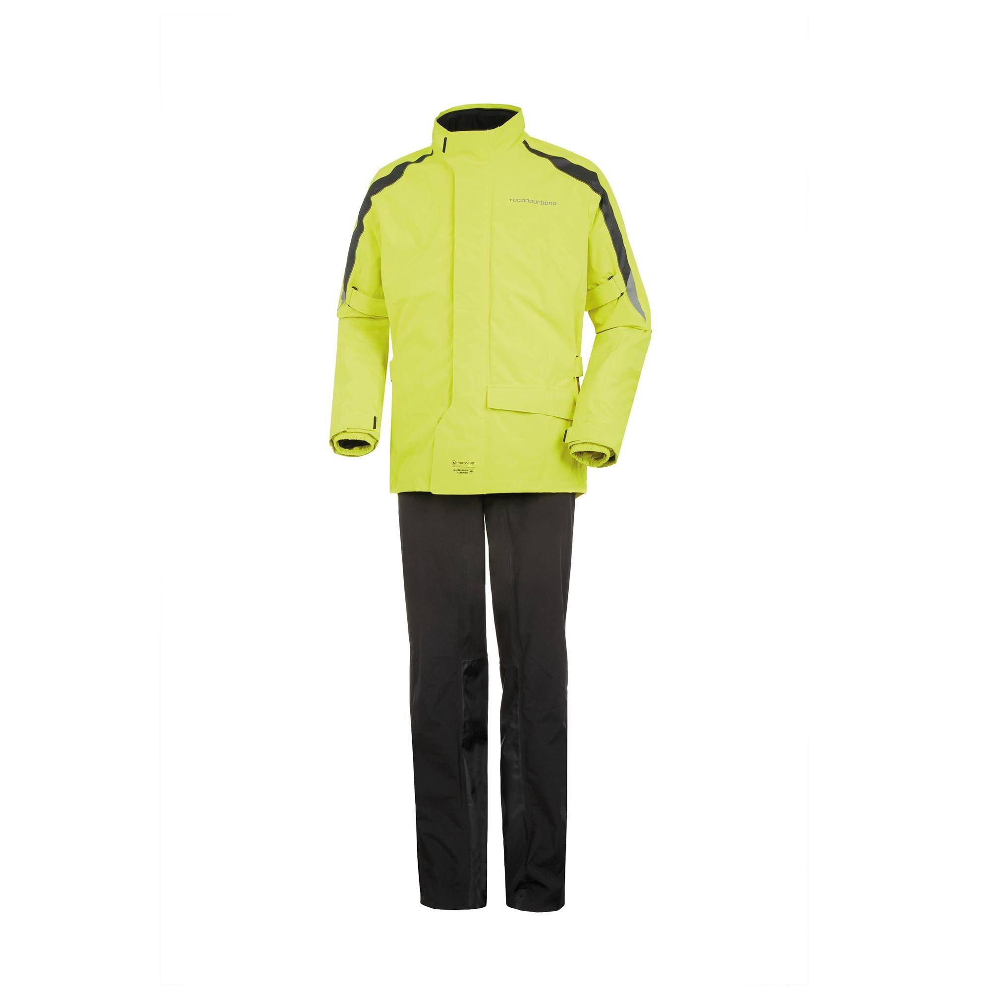 Waterproof Jacket And Trouser Set Diluvio Pro Black–Fluorescent Yellow