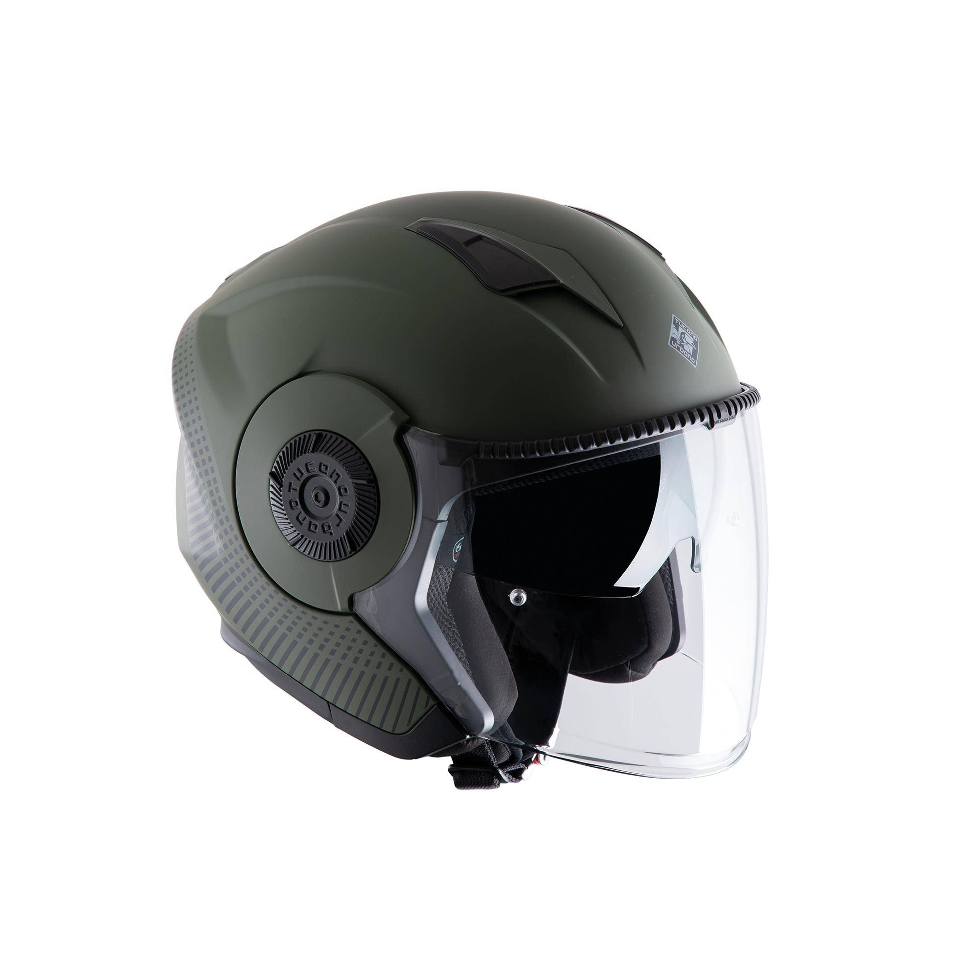 Casco El Tange Airborne Green Graphic–A Opaco