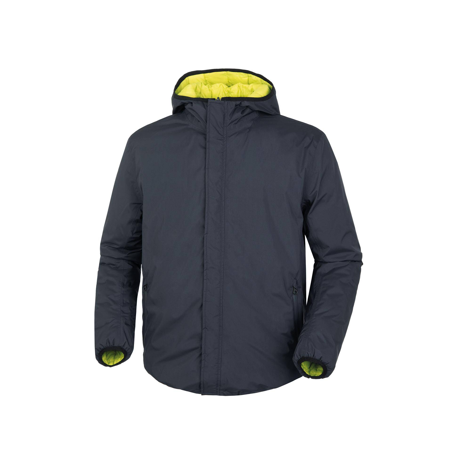 Giacca Double Way Blu Scuro–Lime
